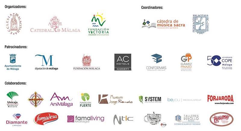 Conformas y otros patrocinadores de Málaga canta con Frisina