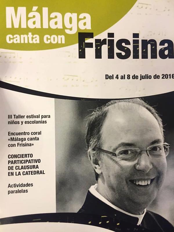 Cartel Málaga canta con Frisina