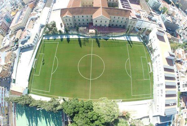 Ejecución de Campo de Futbol de hierba Artificial. Colegio SEK, Málaga.